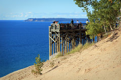 Sleeping Bear Dunes. Was recently voted the most beautiful place in America by Good Morning America (ABC News stock photography