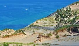 Sleeping Bear Dunes. The sleeping bear dunes on the shore of lake Michigan royalty free stock photo