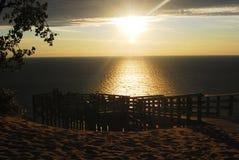 The Sleeping Bear Dunes. Sleeping Bear Dunes National Lakeshore in Michigan, USA Stock Image