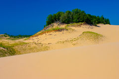 Sleeping Bear Dunes at Lake Michigan. Royalty Free Stock Photos
