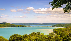 Sleeping Bear Dunes National Lakeshore. Scenic overlook of Sleeping Bear Dunes National Lakeshore in Northern Michigan Stock Images