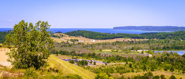 Sleeping Bear Dunes National Lakeshore. Scenic overlook of Sleeping Bear Dunes National Lakeshore in Northern Michigan Stock Photography