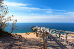 Sleeping Bear Dunes Overlook - Michigan Royalty Free Stock Image