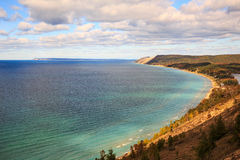 Sleeping Bear Dunes and South Manitou Island, Empire Michigan Royalty Free Stock Photos