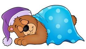 Sleeping bear theme image 1 Royalty Free Stock Image