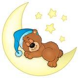 Sleeping bear theme image 4 stock illustration