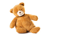 Sleeping bear toy. Sitting sleeping teddy bear toy Stock Image