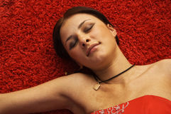 Sleeping beauty. Sleeping attractive young beautiful woman Royalty Free Stock Photography