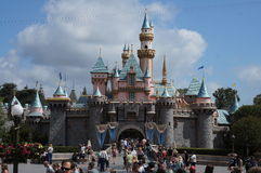Sleeping Beauty Castle Disneyland Stock Image