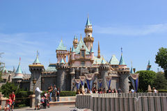 Sleeping Beauty Castle at Disneyland Royalty Free Stock Photos