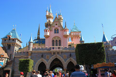 Sleeping Beauty Castle at Disneyland Royalty Free Stock Images