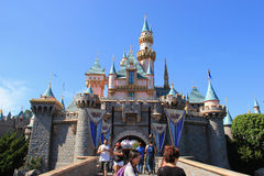 Sleeping Beauty Castle at Disneyland Stock Photos