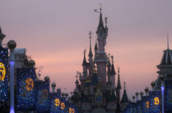 Sleeping Beauty Castle, Disneyland in Paris Royalty Free Stock Image