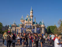 Sleeping Beauty castle at the Disneyland Park Stock Images