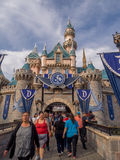 Sleeping Beauty Castle at Fantasyland in the Disneyland Park Royalty Free Stock Photography