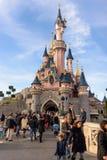 Sleeping Beauty Castle , the symbol of Disneyland Paris Royalty Free Stock Photos