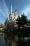 Sleeping Beauty Castle (Tokyo. A side view of the castle stock photo