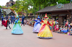 Sleeping Beauty Fairies from Festival of Fantasy Parade Royalty Free Stock Photo