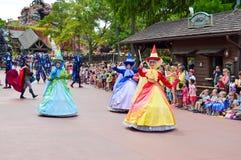 Sleeping Beauty Fairies from Festival of Fantasy Parade Royalty Free Stock Photo