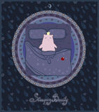 Sleeping beauty. Illustration to the fairy    tale. Stock Photos