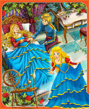 The sleeping beauty - Prince or princess - castles - knights and fairies - illustration for the children Stock Image
