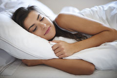 Sleeping in bed Royalty Free Stock Photography