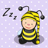 Sleeping bee Stock Photo