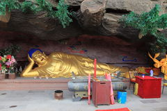 Sleeping Bhudda of Chengde Stock Photo