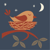 Sleeping bird Royalty Free Stock Photography