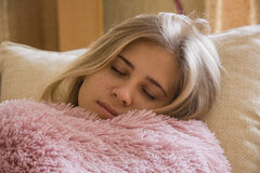 Sleeping blond Royalty Free Stock Photography