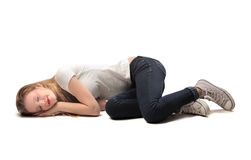 Sleeping Blonde Girl Royalty Free Stock Photo