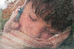 The sleeping boy royalty free stock photography