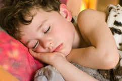 Sleeping boy Stock Photos