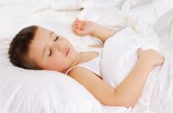 Sleeping boy. Face of beautiful sleeping boy Royalty Free Stock Image