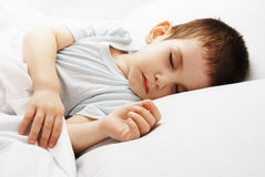 The sleeping boy Stock Image