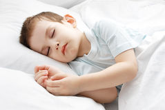 The sleeping boy Royalty Free Stock Photos