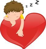 Sleeping boy royalty free illustration