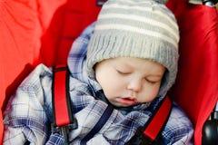 Sleeping boy Stock Images