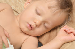 Sleeping boy Stock Photo
