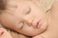 Sleeping boy Stock Images