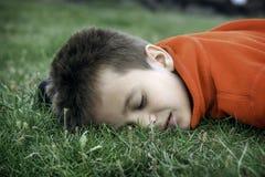 Sleeping boy Royalty Free Stock Images