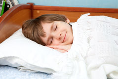 The sleeping boy Stock Photos
