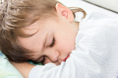 Sleeping boy son healthy sleep rest having rest sleeping Stock Photos