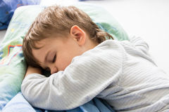 Sleeping boy son healthy sleep rest having rest sleeping Stock Photography