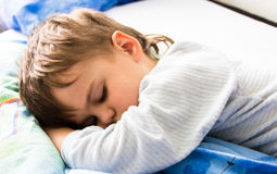 Sleeping boy son healthy sleep rest having rest sleeping Stock Photo