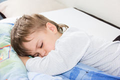 Sleeping boy son healthy sleep rest Royalty Free Stock Photos