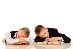 Sleeping boys Stock Photos