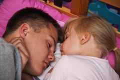 Sleeping brother and sister Stock Photography