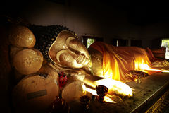 Sleeping buddha. In chiang mai Royalty Free Stock Image