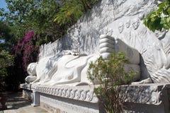 Sleeping Buddha. White sleeping Buddha on the hill in Nha Trang, Vietnam Royalty Free Stock Image